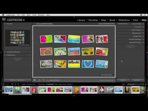 Photoshop Lightroom 4: Intro to Web Galleries | lynda.com tutorial