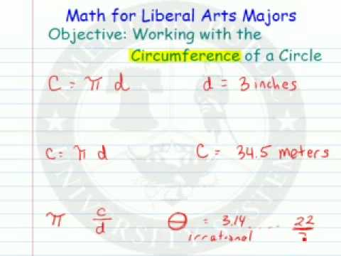 Circumference and Diameter of a Circle  and Pi