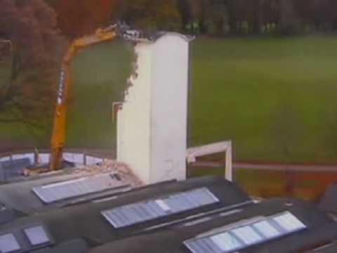 Demolition of Darcy: Oxford Brookes Campus Redevelopment
