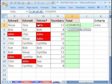 Excel Magic Trick #396: COUNTIF function and Multiplying