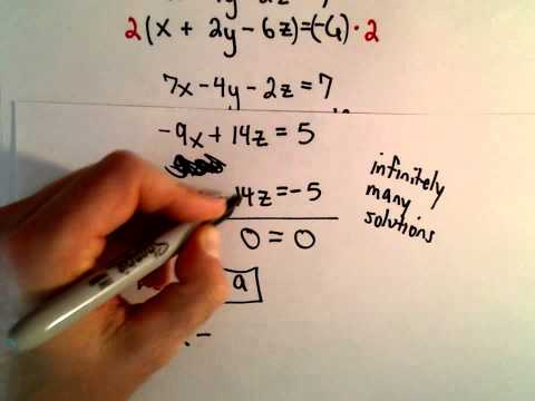 System of 3 Equations, 3 Unknowns Using Substitution - Ex 3
