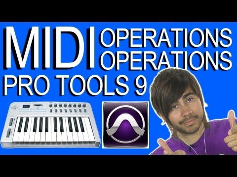 Edit MIDI Operations - Pro Tools 9