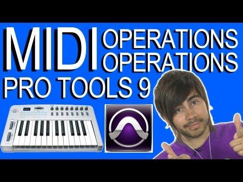 Edit MIDI Operations - Pro Tools 9
