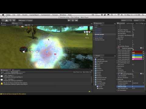 220. Unity3d Tutorial - Particle System (Portal)