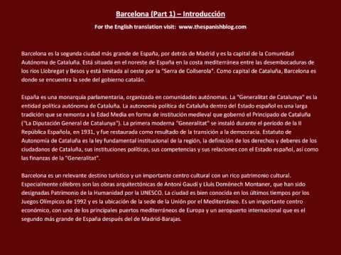 Spanish English Parallel Texts Barcelona (Part 1) Introducción