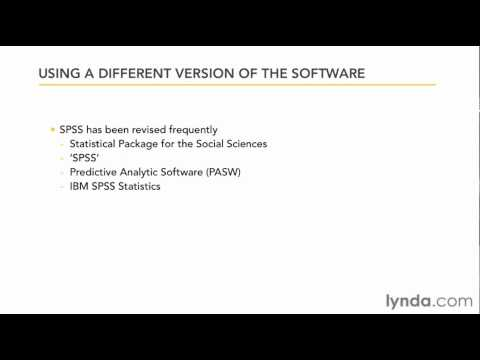 Introducing the different versions of SPSS | lynda.com overview