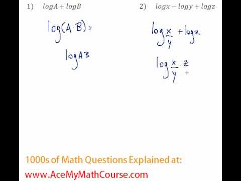 Logarithms - Compressing Log Expressions #1-2