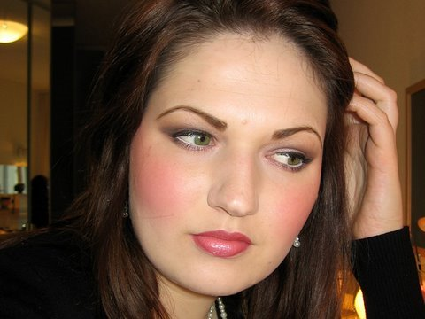 Neutral Smokey eye pink blush tutorial for daytime