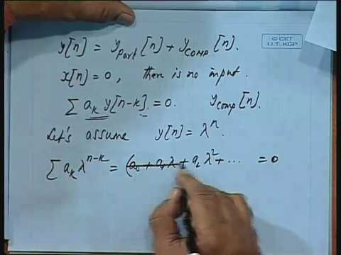 Lec-7 Solution of Difference Equation