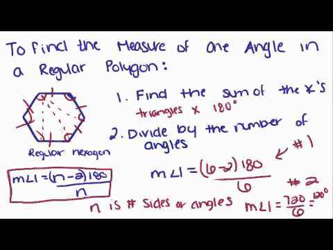 Introduction to Geometry - 31 - Angle Measures of Regular Polygons