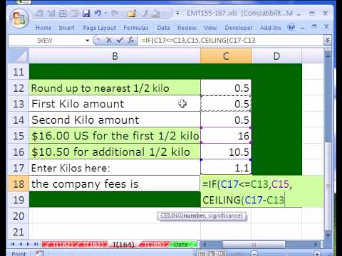 Excel Magic Trick # 164: CEILING function in Price Formula