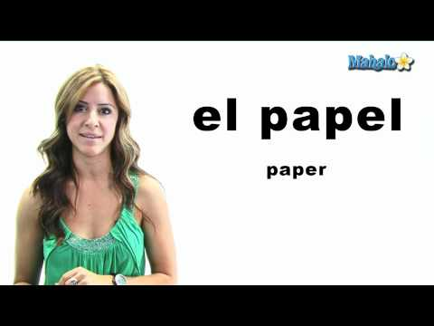 "How to Say ""Paper"" in Spanish"