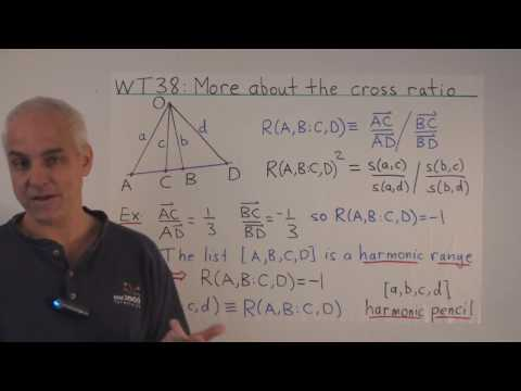 WT38: More about the cross ratio