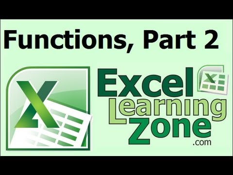 Microsoft Excel Guide to Functions, Part 2 of 2