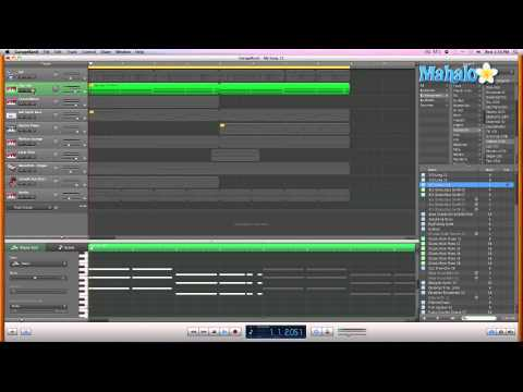 GarageBand Tutorial - Editing MIDI Pitch