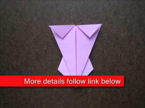 How to Fold Origami Lingerie - OrigamiInstruction.com