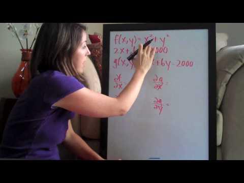 Lagrange Multipliers Example 1 PART 1/2