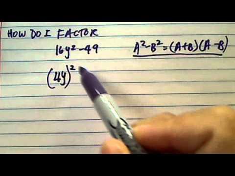 How to factor polynomials? 16y^2-49?