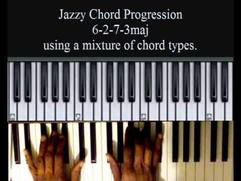 Jazzy Chord Progression 6-2-7-3maj - Jill Scott-esque
