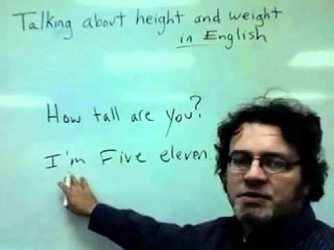 talking about height and weight in English