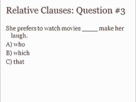 Saylor ME304: Quiz on Relative Clauses