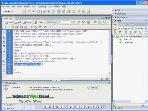 Webmaster: 47 Working with databases