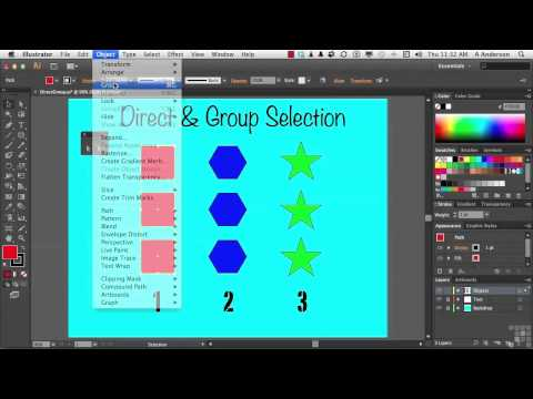 Adobe Illustrator CS6 Tutorial | Group & Direct Selection Techniques | InfiniteSkills