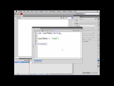 ActionScript, Flash Professional: Retrieving variable values | lynda.com