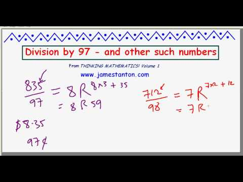 Dividing by 97 - and other such Numbers (TANTON Mathematics)
