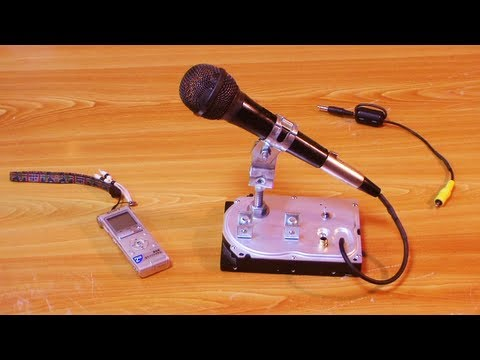 Hard-Drive Based Dynamic Mic Stand For HQ Sound-Recordings