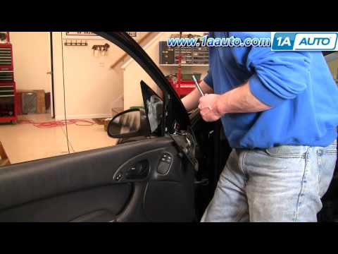 How to Install Repair Replace Fix Broken Side Rear View Mirror Ford Focus 00-04 1AAuto.com
