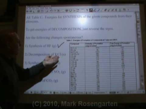 Chemistry Tutorial 9.4b:  Gibbs Free Energy