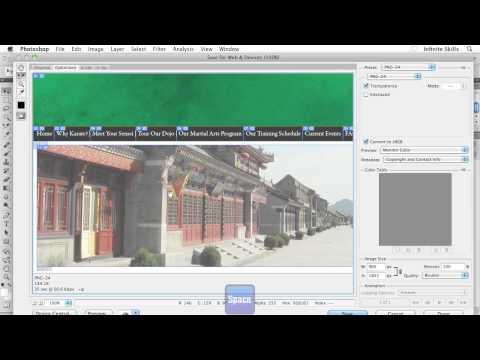Beginners Web Design Tutorial | Splicing up your Design in Photoshop | InfiniteSkills Training