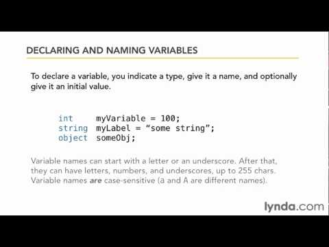 How to work with C# data types | lynda.com tutorial