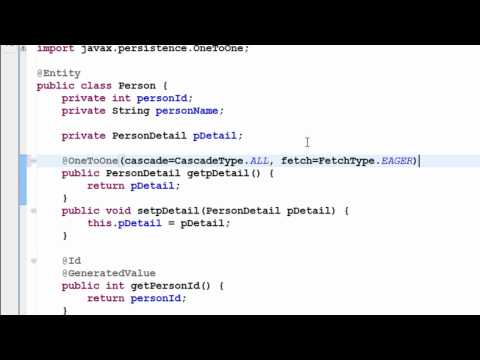 Java Hibernate Tutorial Part 15 - One to One Mapping