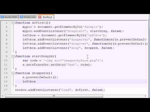 HTML5 Tutorial - 46 - Finishing the Drag and Drop Program!