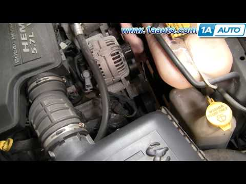 How To Install Repair Replace Serpentine Belt Tensioner Dodge Ram 02-08 5.7L Hemi 1AAuto.com