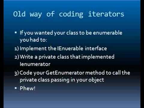 c sharp Iterators