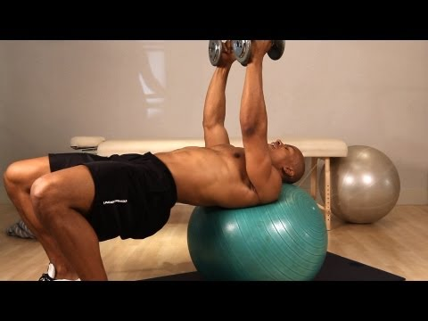 How to Do an Exercise Ball Flat Dumbbell Fly | Home Chest Workout for Men