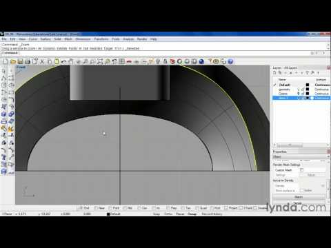 How to build complex surface shapes in Rhino | lynda.com tutorial