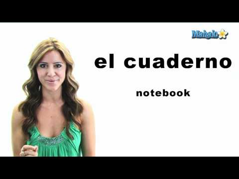"How to Say ""Notebook"" in Spanish"