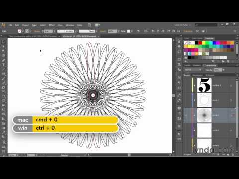 Illustrator tutorial: Creating a continuous, single-line spirograph | lynda.com, Deke's Techniques