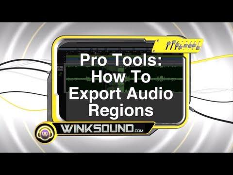 Pro Tools: How To Export Audio Regions