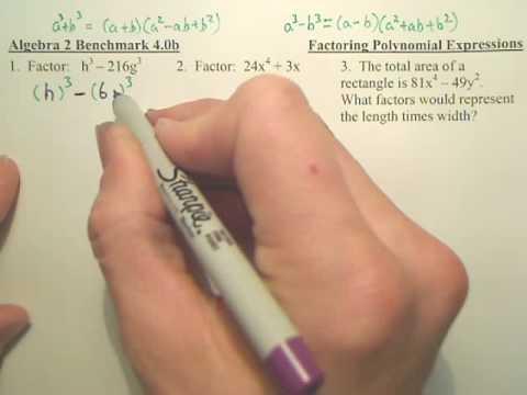 Algebra 2   Benchmark 4b