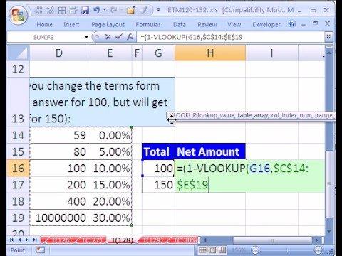 Excel Magic Trick #128: VLOOKUP Categories