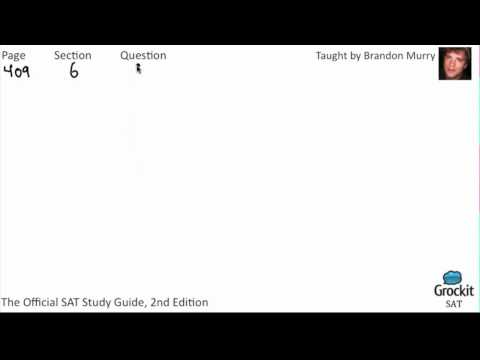 SAT Writing Official Guide Sample Lesson (3/7)