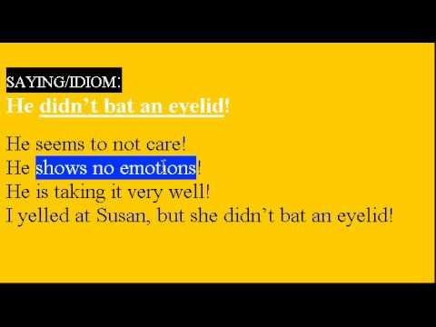 Learn English Idioms Lesson #26