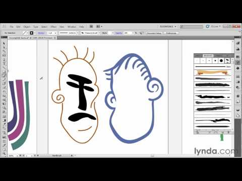 How to use Illustrator's brush tools | lynda.com tutorial