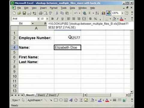 VLOOKUP Between Separate Workbooks and Worksheets in Excel