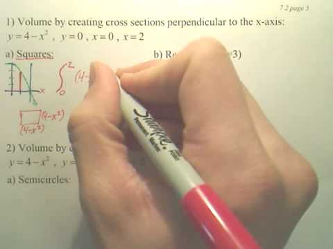 7.2c1 Volume Disk Method - Calculus